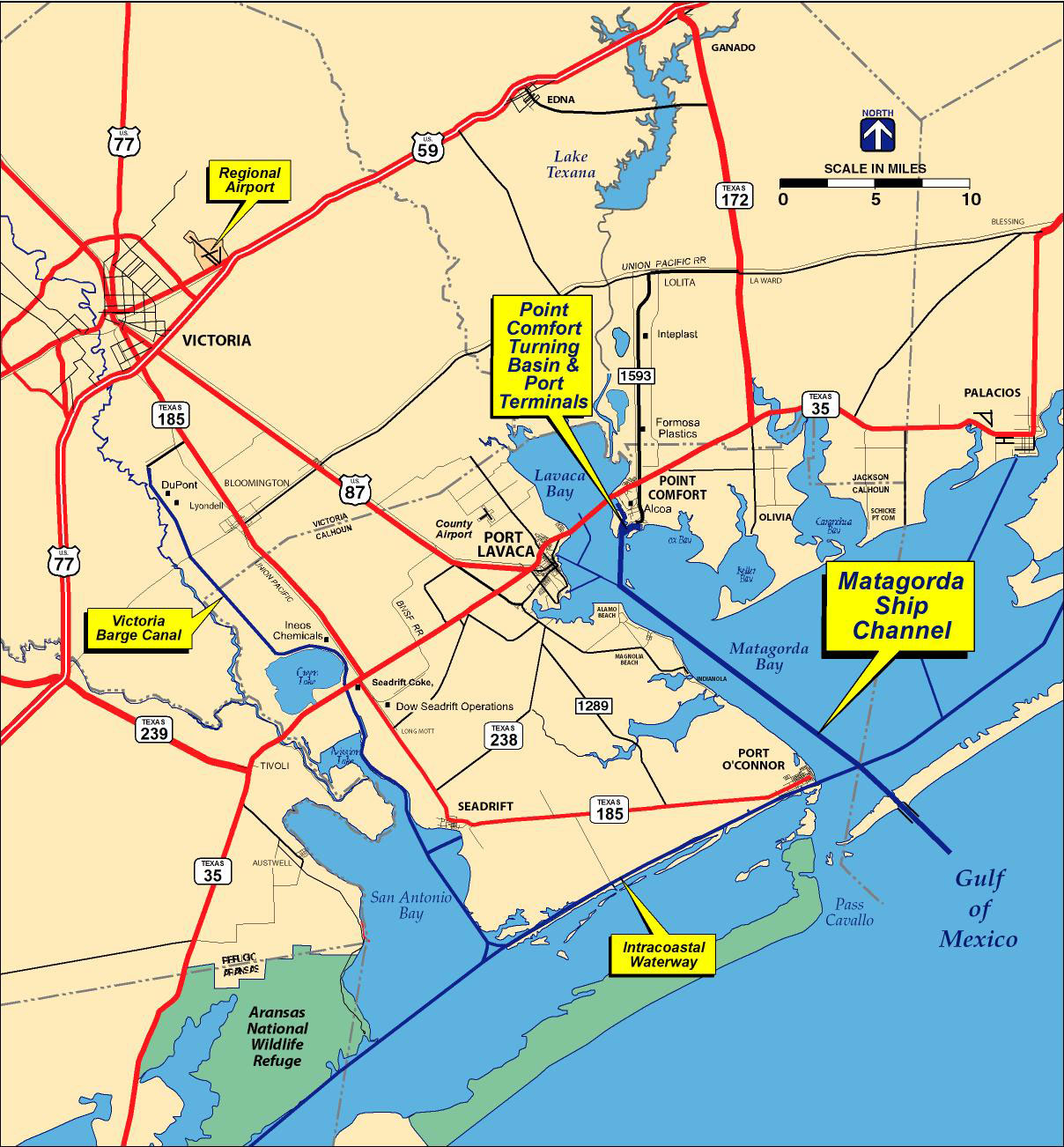 Matagorda Ship Channel map