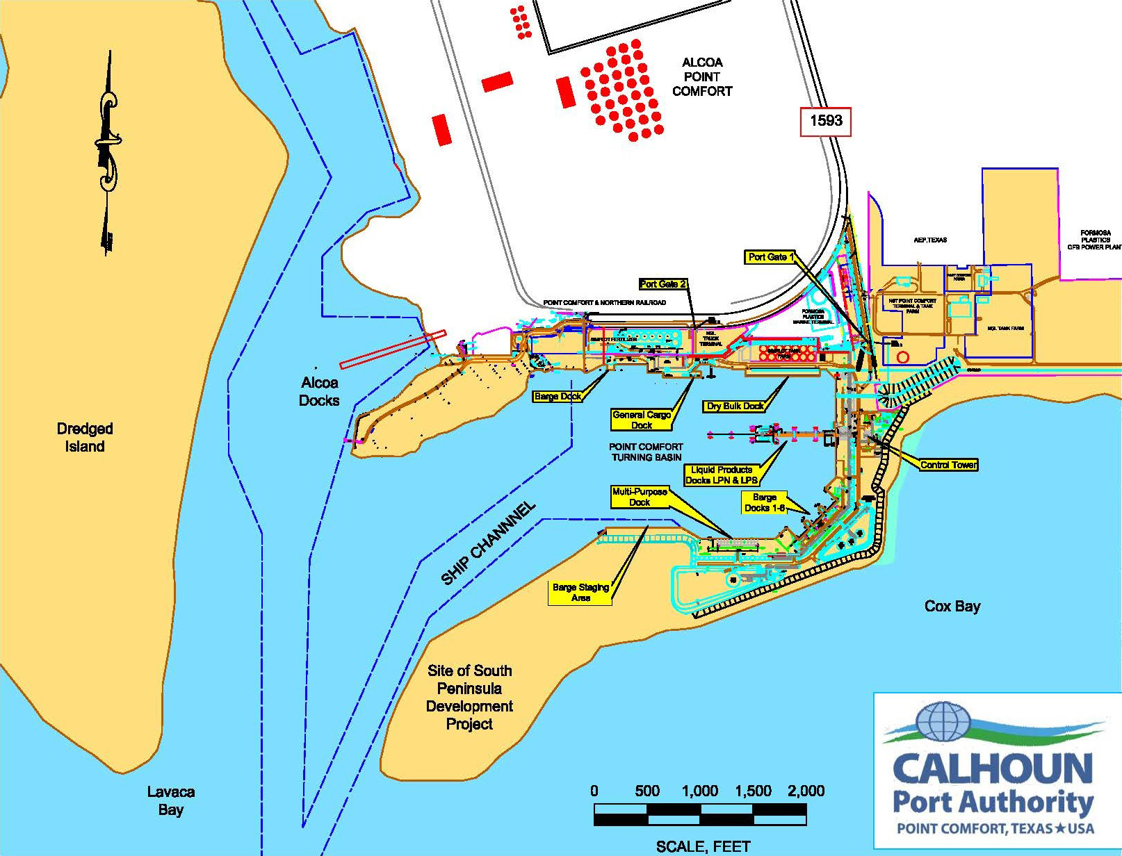 Point Comfort Port Facilities map